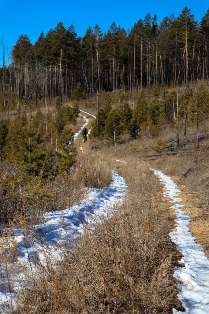 На велосипеде по снежным трейлам читы и забайкальского края