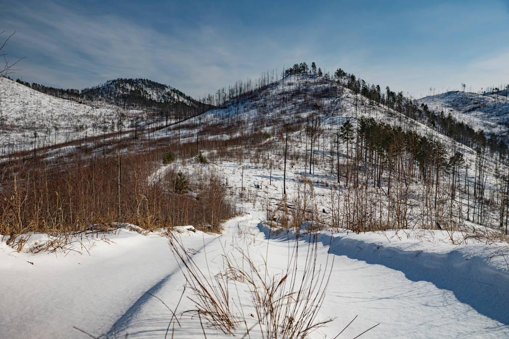Вид на гору Камень с одного из отрогов хребта Черского